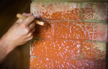 Как покрасить кирпичную печь
