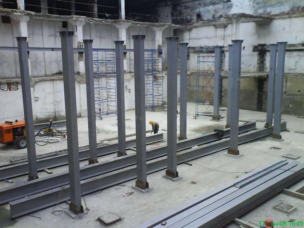 Каркасные металлоконструкции для промышленных зданий