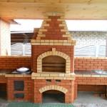 Строительство печи барбекю из кирпича: готовые проекты