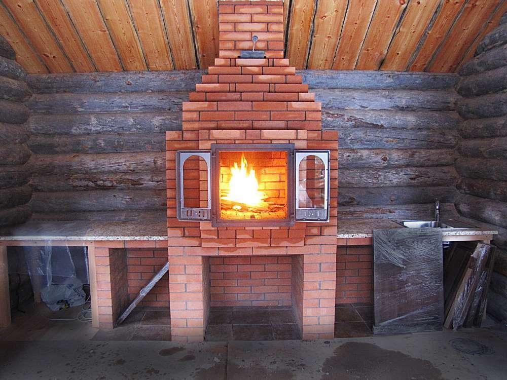 Печь отопительно варочная из кирпича