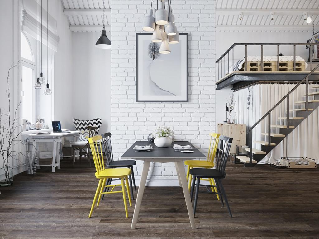 Стиль лофт в прочтении скандинавских дизайнеров
