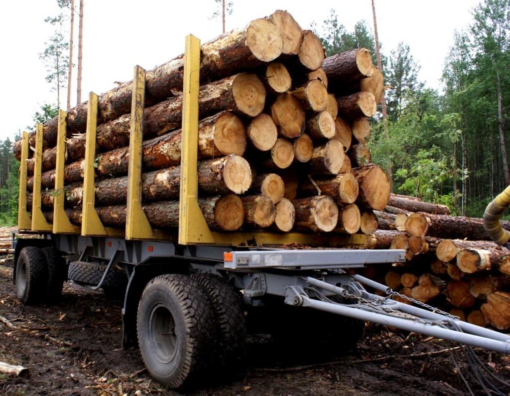 Транспортировка строительной древесины