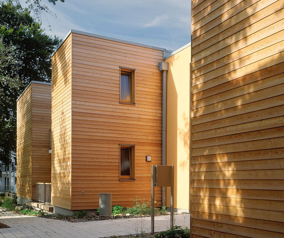 Вентилируемый фасад с натуральной древесиной