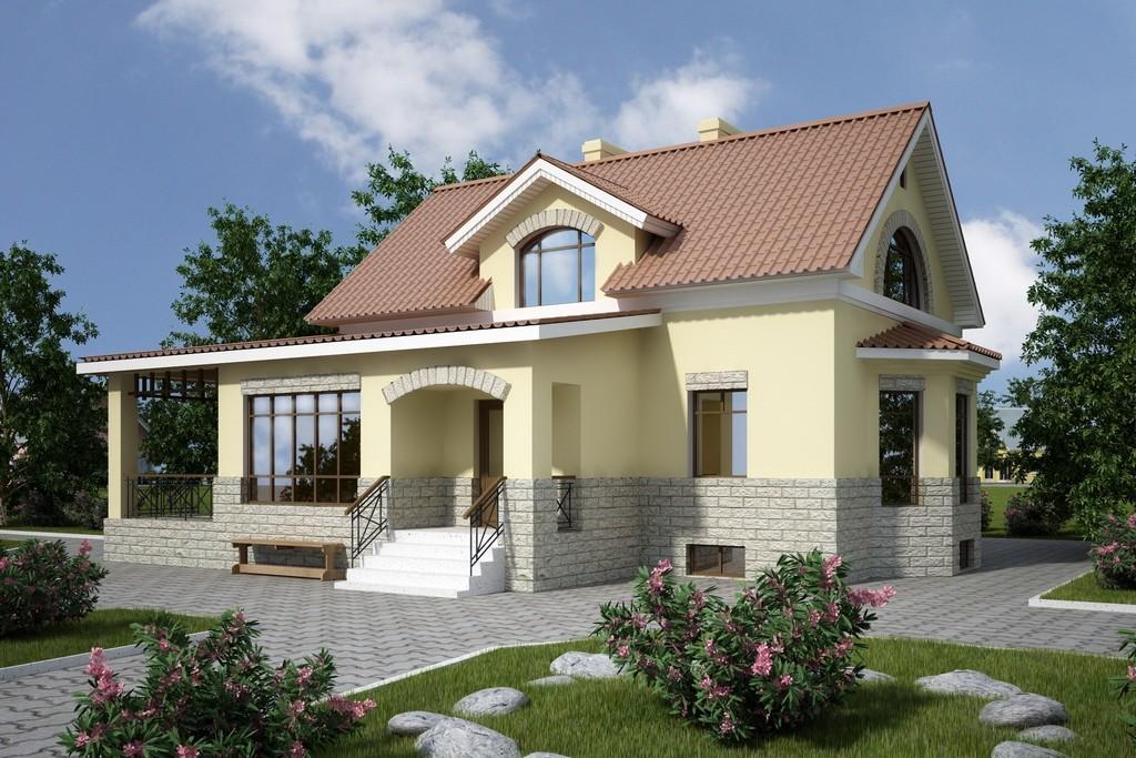 Проекты домов из кирпича с цокольным этажом