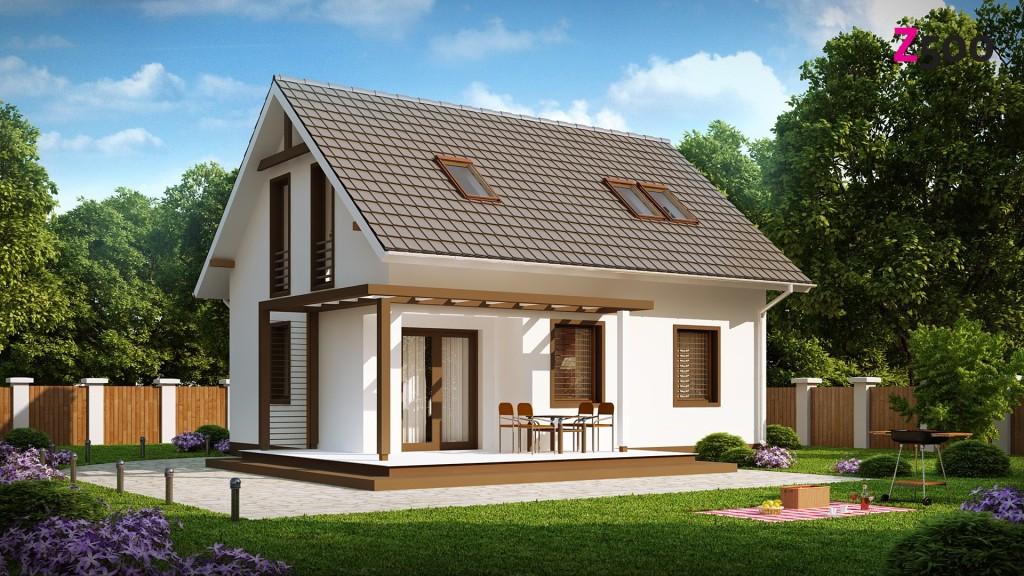 Проект сельского кирпичного дома