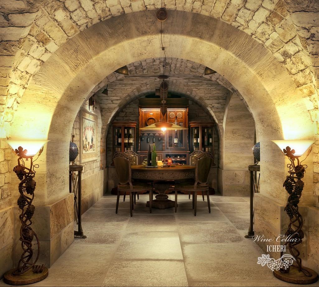 Строим из кирпича: погреб с винным баром