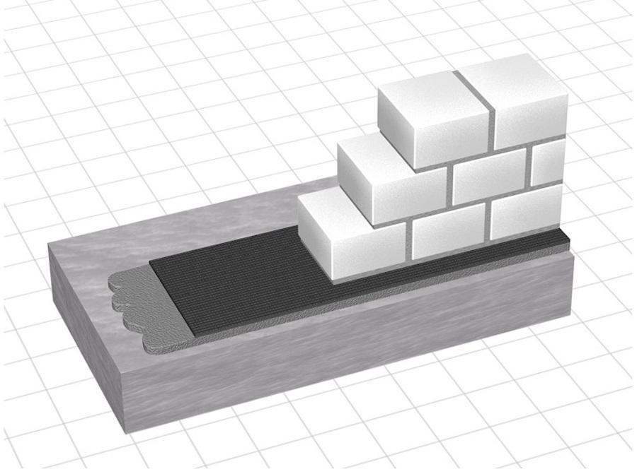 Устройство горизонтальной гидроизоляции под кирпичной кладкой
