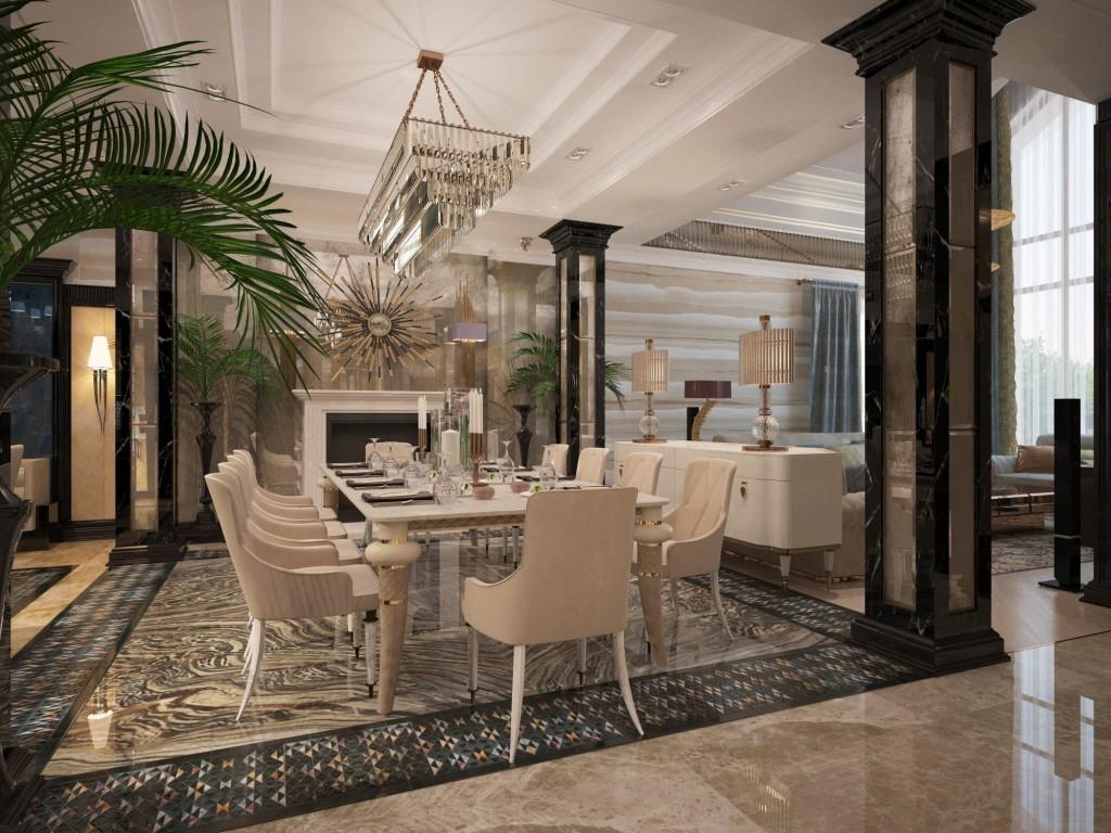 Вариант внутреннего дизайна дома со вторым светом
