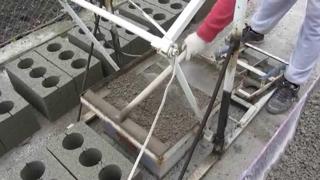 Самодельный станок для производства шлакоблоков