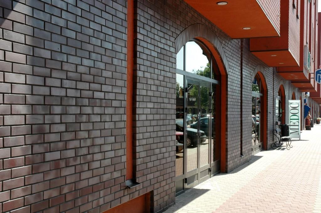 Дизайн фасада с глазурованным кирпичом