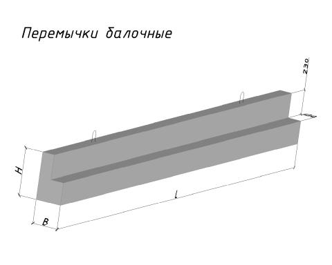 Перемычка балочного типа (ПГ)