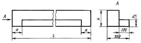 Сечение фасадной перемычки (ПФ)