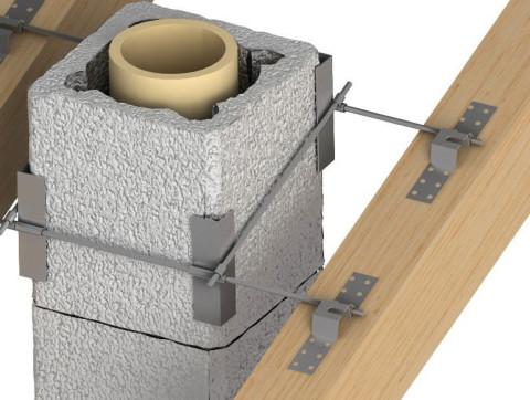 Схема установки керамического дымохода