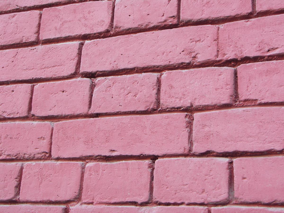 Как из розового сделать кирпичный