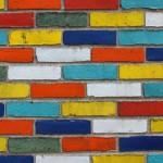 Вариант кладки: цветная мозаика