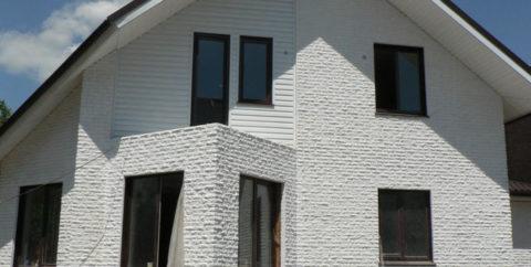 Облицовка фасада декоративным кирпичом