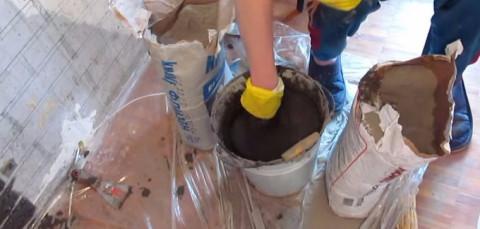 Подготовка раствора из сухой смеси