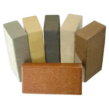 Цветной керамический кирпич