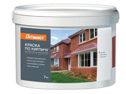 Фасадная краска для силикатного кирпича, керамического кирпича и камня