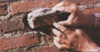 Установка камня