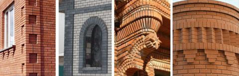 Архитектурные возможности керамического кирпича