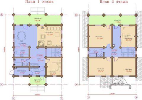 План первого и второго этажа