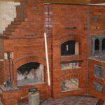 Чем покрасить печь из красного кирпича: готовая конструкция
