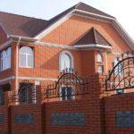 Фасад дома, облицованный керамическим кирпичом