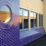 Фасад из глазурованного кирпича