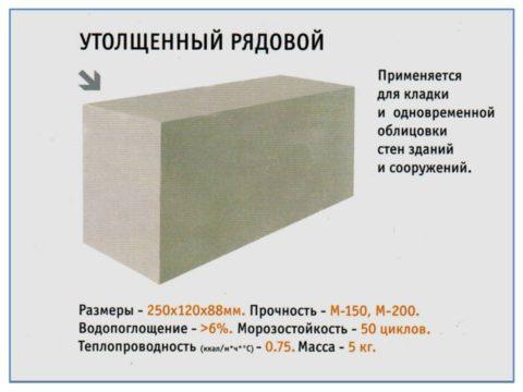 Основная информация: размер силикатного полуторного кирпича, физико-технические показатели, и ответ на вопрос: сколько весит силикатный полуторный кирпич
