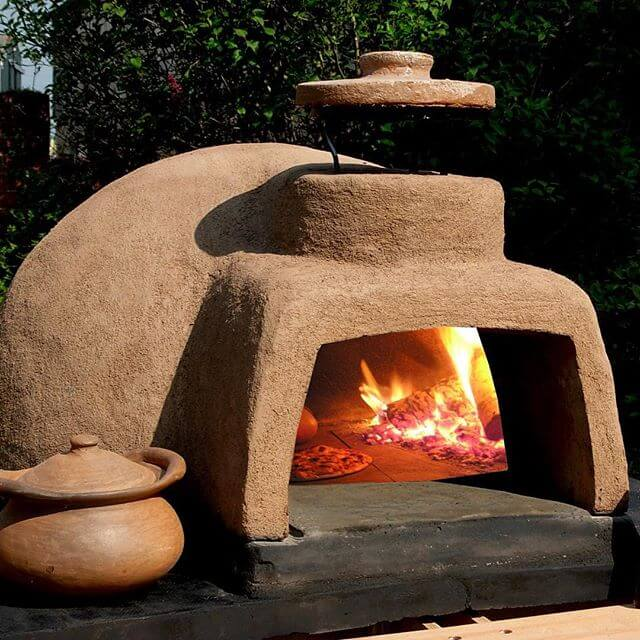 Печка из глины на улице своими руками