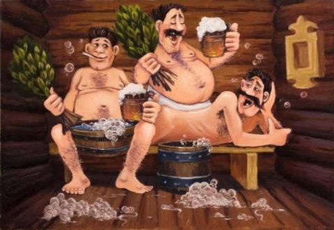 Раньше про металлические печи в бане не знали