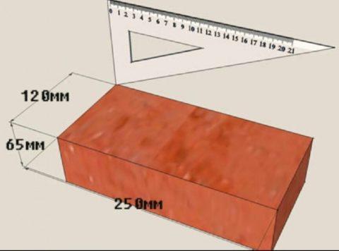Размер кирпича керамического одинарного