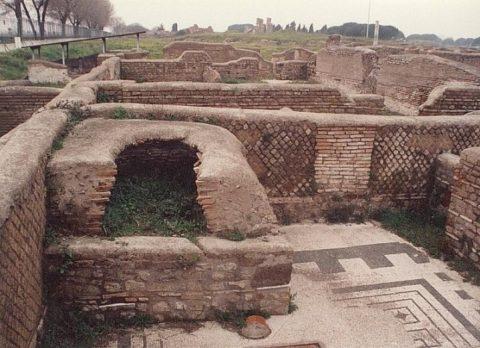 Развалины домашних печей в Римской империи