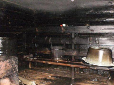 Сгоревшая «черная» баня