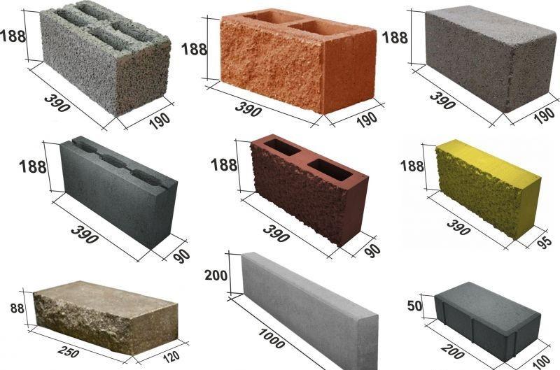 Кирпич бессер: размеры могут соответствовать вышеуказанным, выпускаются также блочные изделия.