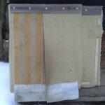 Применение брезента в качестве защиты входа в будку