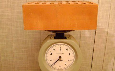 Сколько весит керамический кирпич?