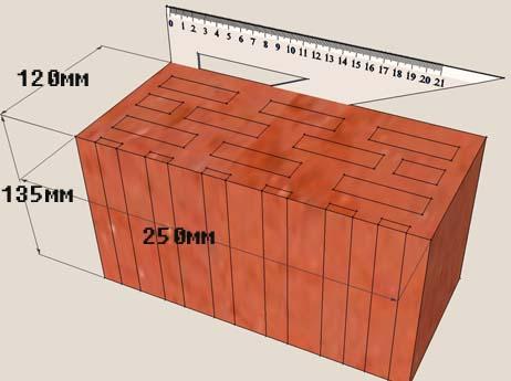 2,1 НФ – двойное изделие. Размер его – 250*120*138