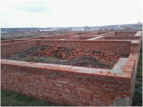 Кирпичный фундамент под дом