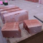 Образцы кирпича керамического для испытаний