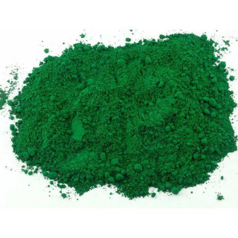 Окисл титана придает зеленый цвет кирпичу (он используется также как пигмент)