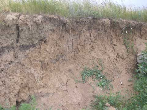 Пример делювиального месторождения глины