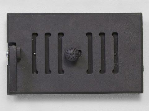 Удобная дверца для поддувала с заслонкой для прохода воздуха