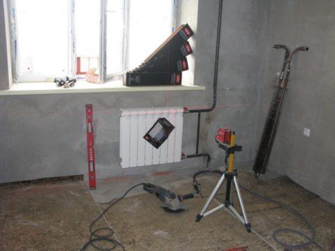 Радиаторы при необходимости тоже меняем сразу