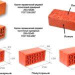 Размеры кирпичей керамических