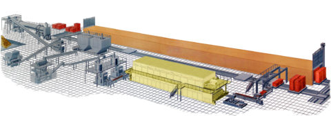 Схема готовой автоматизированной линии оборудования