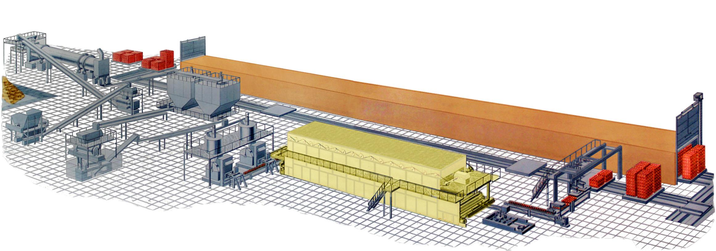 Оборудование для керамического кирпича полусухого формования