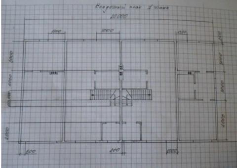 Эскизный план первого этажа