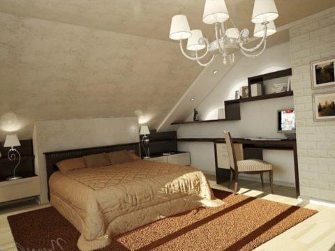 Минимальная высота потолка спальни в мансарде 1,6 м